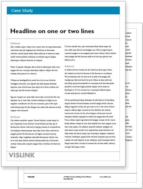 indesign study template vislink document resource center white paper templates