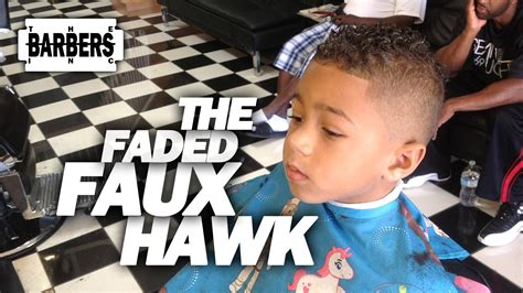 how to cut bi racial boys hair styles how to kid s faded faux hawk mohawk men s haircut