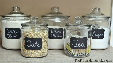 Clear Kitchen Canisters Adding Some Chalkboard Fun To My Glass Canisters