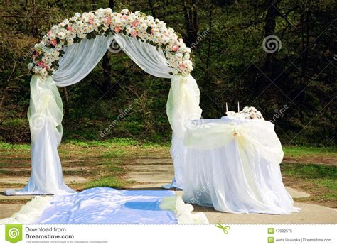 Wedding arch stock image. Image of color, tree, outdoors   17992575