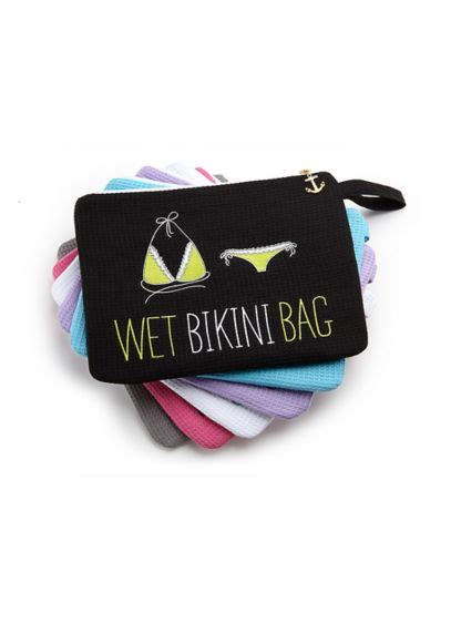 personalized waffle wet bikini bag davids bridal