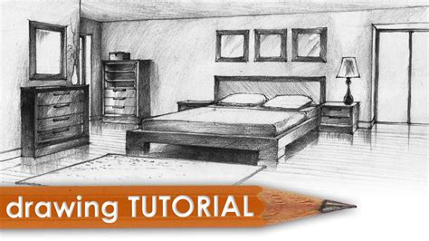 two point perspective bedroom drawing tutorial room in two point perspective bedroom youtube