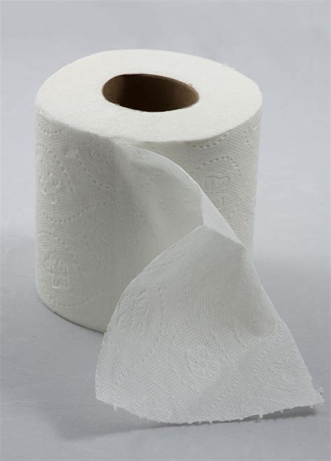 Who Makes Toilet Paper - file roll of toilet paper with one sheet folded in