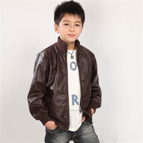 Jaket Baby 5 big boys in leather jackets leather boy korean children s leather jackets boys clothes boys
