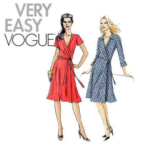 wrap dress pattern uk womens wrap dress pattern uncut vogue v8379 fit and flare