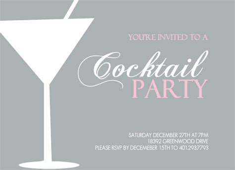 cocktail invitation cards templates cocktail invitation theruntime
