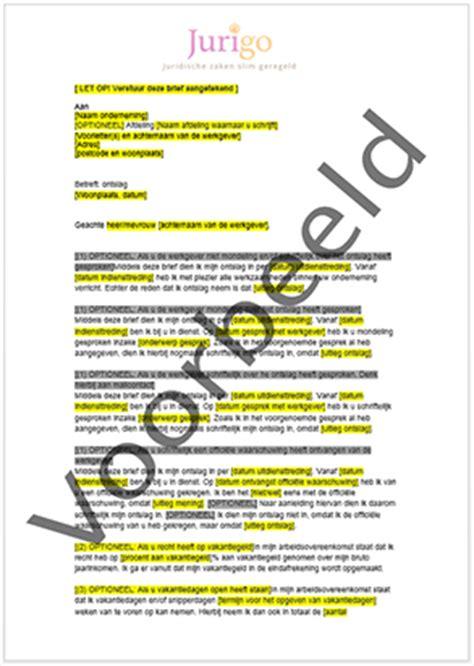 brief officiele waarschuwing werknemer ontslag brief schrijven