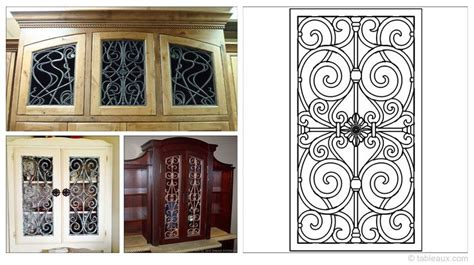 wrought iron cabinet door inserts 17 best images about refinished furniture on pinterest
