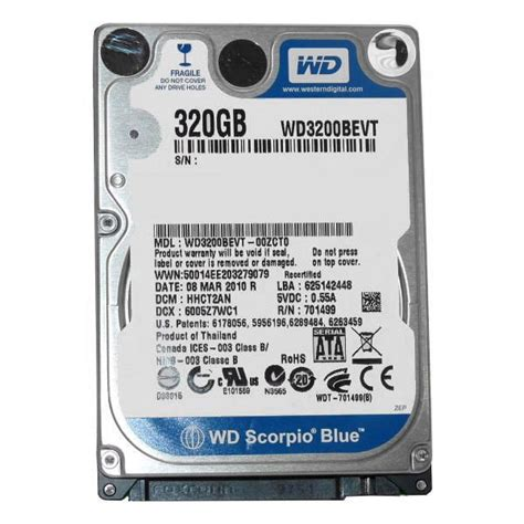Hardisk Laptop Dell 320gb where to buy cheapest western digital wd3200bevt 320 g