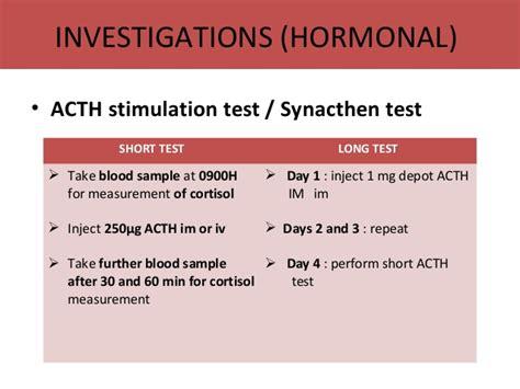 test al synacthen adrenal glands disorder