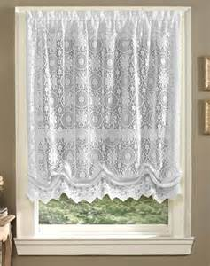 White Balloon Curtains White Lace Balloon Shade Jacquard Window Curtains