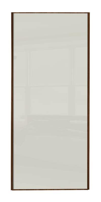 ellipse single panel walnut panel heritage single panel door with walnut frame and single soft white glass panel