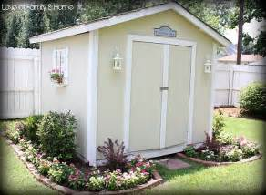 Landscaping Around A Shed by Makeover Of Backyard Shed Gardening