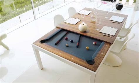 Meja Makan Billiard 17 cara inventif membuat ruangan kecil jadi lebih hidup