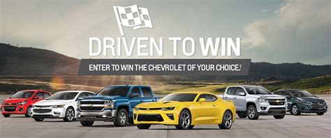 chevrolet contest chevrolet 2017 contest driven to win enter to win the