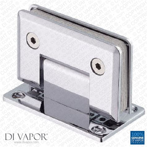 Shower Door Hinge Parts 90 Degree Wall Mounted Shower Door Glass Hinge Chrome Plated Sided Tapered Edges