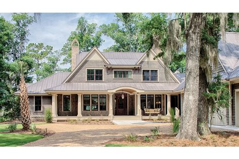 Country Style House Plans Traditional Low Country Design Hwbdo77021 Low Country