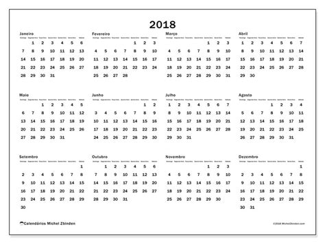 Calendario 2018 Mexico Para Imprimir Livre Calend 225 Rios Para 2018 Para Imprimir Brasil