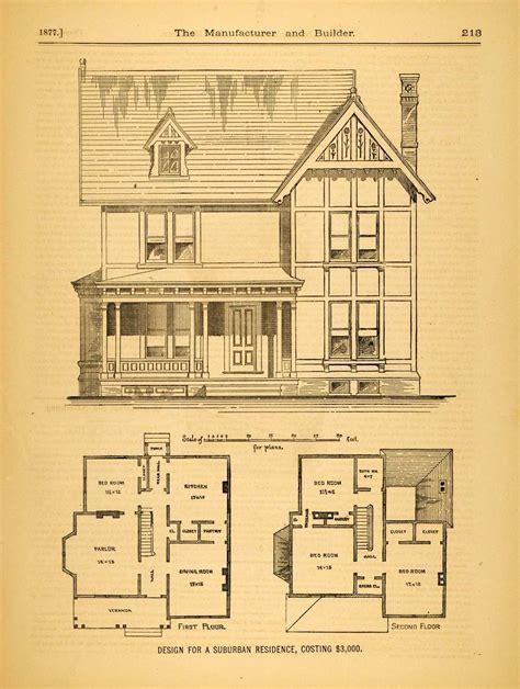 victorian floorplans 1877 print victorian suburban house c m morgan