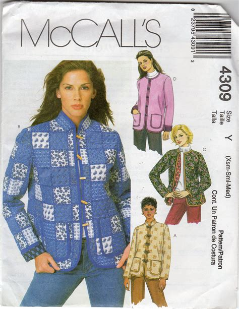 s quilted jacket pattern size x small small