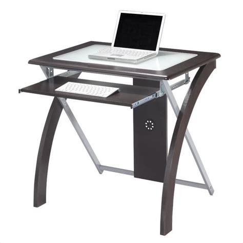 Computer Desk Espresso Computer Desk In Espresso W Silver Accents Xt59es