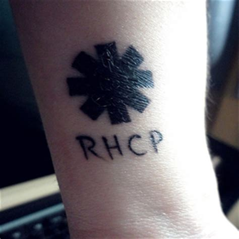 rhcp logo tattoo on my wrist red hot chili peppers tattoos of fans