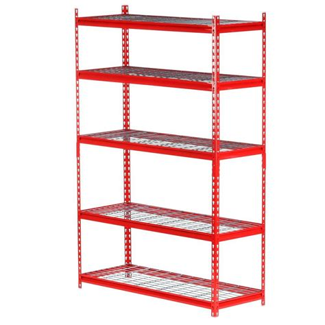 Metal Shelf Storage by Edsal 72 In H X 48 In W X 18 In D5 Shelf Steel Storage