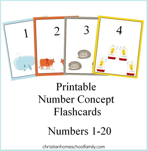 template of 0 10 cards free printable number concept flashcards christian
