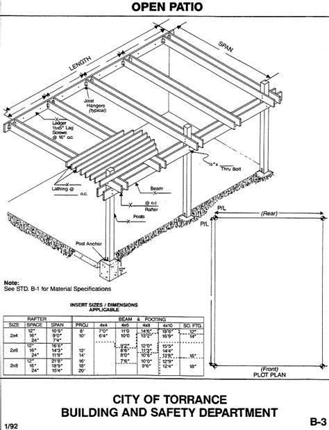 house construction blueprints covered patio building plans icamblog