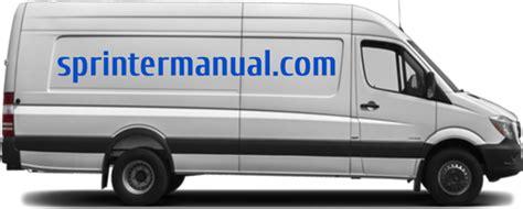 Sprinter Manual Sprinter Van Service Amp Repair Information