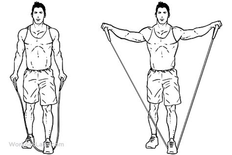 Resistance Band Bench Press Resistance Band Lateral Raises Side Raises Workoutlabs