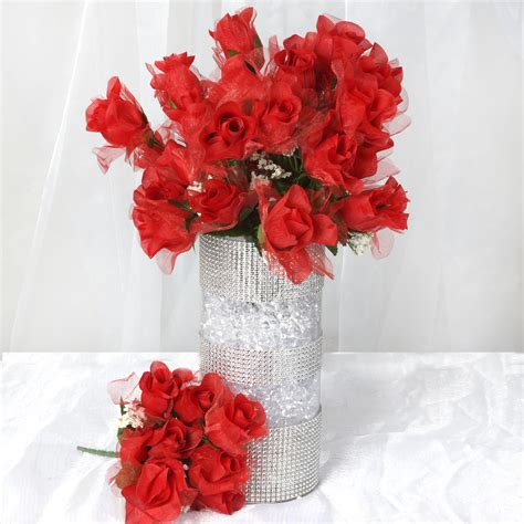 168 organza silk buds wedding artificial flowers bouquets centerpieces sale ebay
