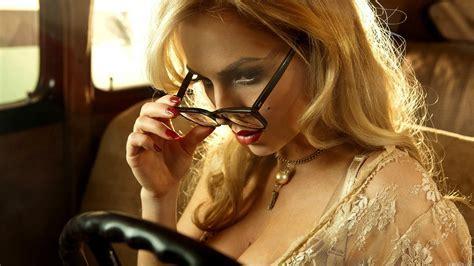 Full HD Wallpaper ancilla tilia model femme fatale blonde