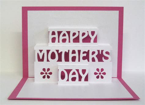 how to make 3d mothers day cards s day card 3d pop up happy s day card