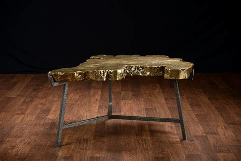 Marble Slab Coffee Table Bronze Finished Cast Slab Coffee Table Mecox Gardens