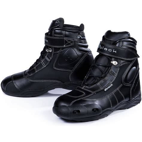 Black Fc Tech Short Motorcycle Paddock Boots Ankle