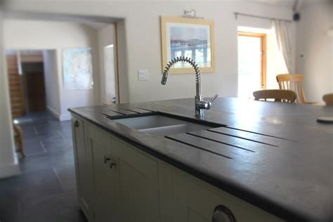 Photographs of Slate Kitchen Worktops, Work Surfaces, Sink