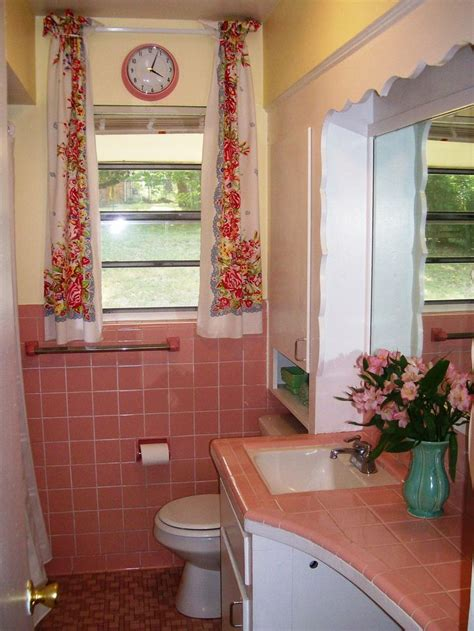 pink tile bathroom ideas pink tile bathroom vintage bathrooms pinterest