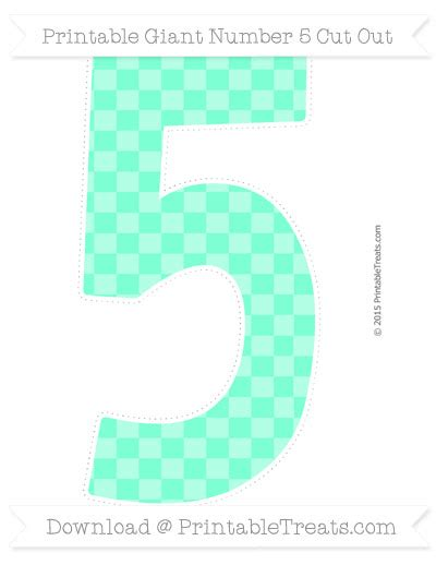 pattern of numbers finder aquamarine checker pattern giant number 5 cut out