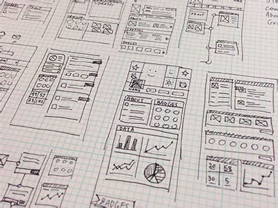 Sketches And Wireframes by Ui Wireframe Sketches For Your Inspiration Web Design