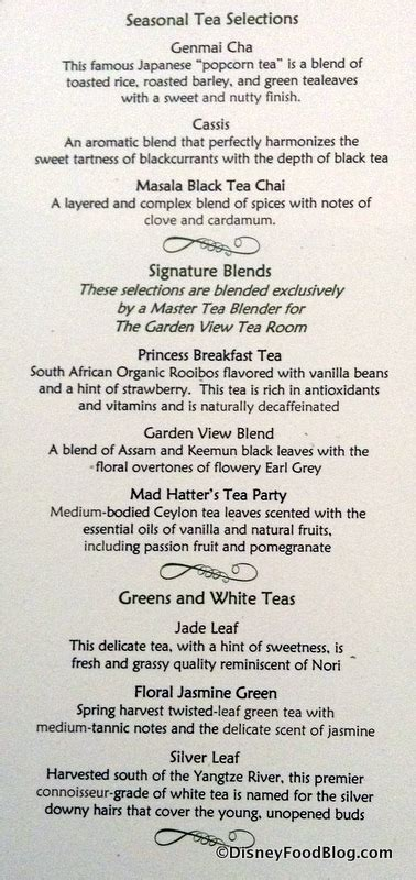 garden view tea room menu news changes to afternoon tea packages at the grand floridian s garden view lounge the disney