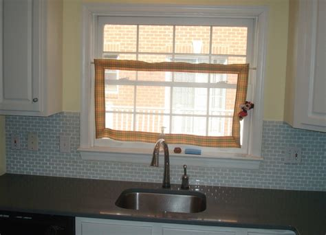 tile around kitchen window glass tile backsplash around window cottage kitchen