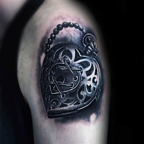 lock tattoo for men 60 lock tattoos for hardened design ideas