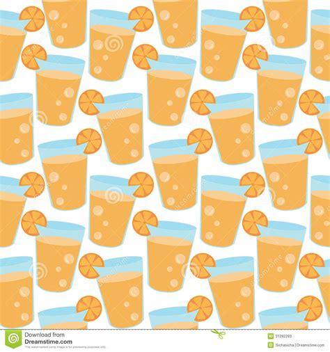 juice pattern vector seamless pattern of orange juice cartoon stock vector