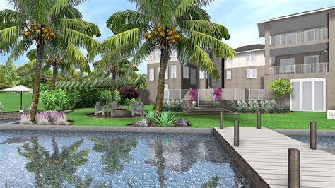 home design center of florida stuart 187 tropical landscape design for new waterfront home in