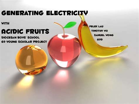 fruit electricity scholar project generating electricity using