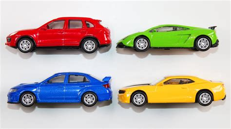 colorful cars learning colors with vehicles learn colours cars