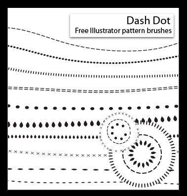 pattern brushes illustrator free free dot dash illustrator pattern brushes adobe