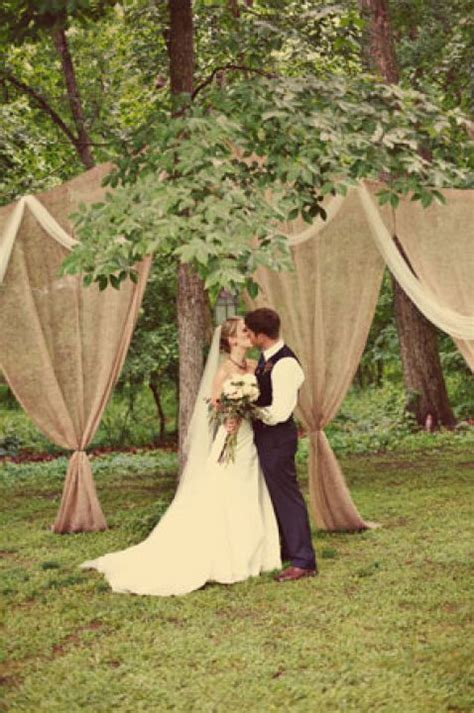burlap draping wedding burlap and tulle draping for an outdoor wedding wedding