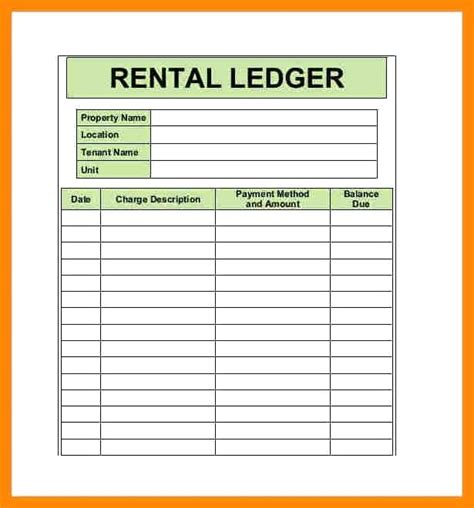 Rent Receipt Ledger Template by Rent Book Template Gallery Template Design Ideas